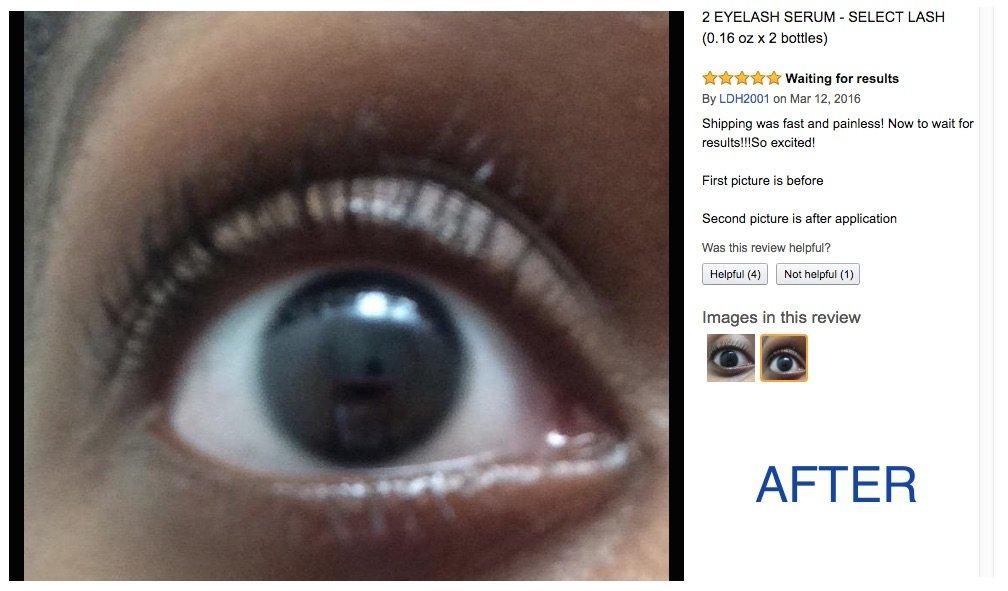 Amazon Select Lash Eye Lash Serum Eyelash Rejuvenator Hair
