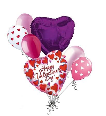 Amazon Com Jeckaroonie Balloons 7 Pc Bright Framed Heart Happy