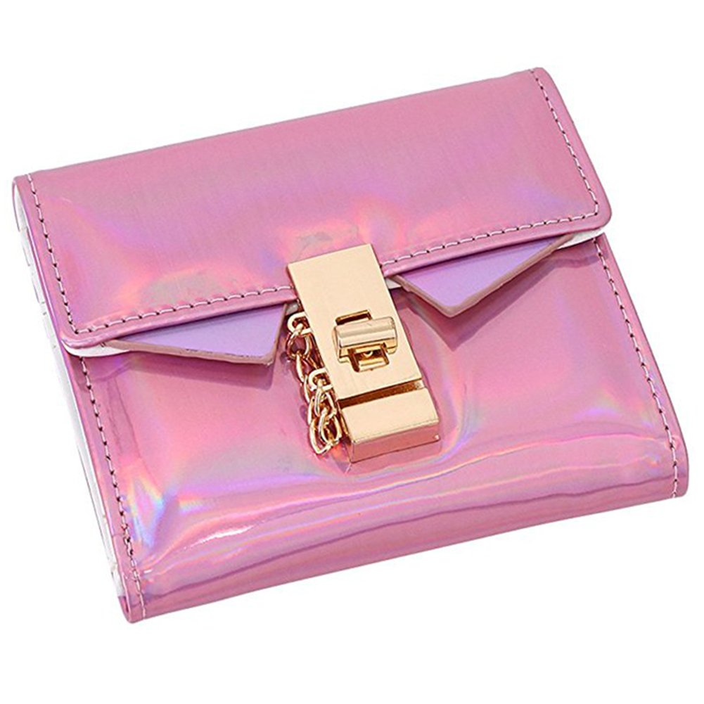 Bags us Fashion Holographic Hologram Handbag Wallet Clutch Coin Purse Laser PU Leather Short Evening Bag