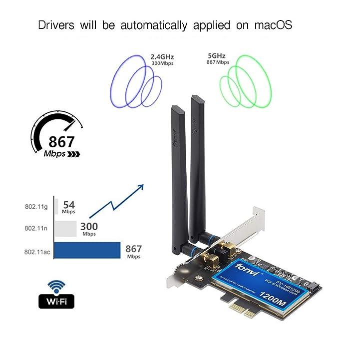 fenvi macOS Desktop WiFi Card Interno Unidad de Disco óptico ...