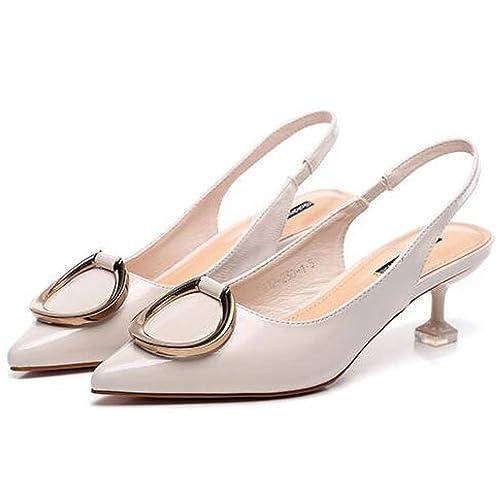 De Zapatos Kitten Mujer Sandalias Tacón Acentuado Slingback Dress kXZiwPuOT