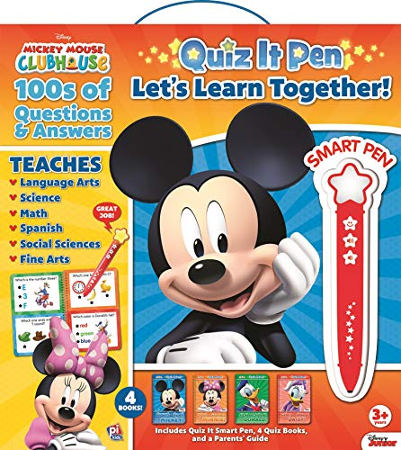 Disney - Mickey and Minnie Mouse Quiz It Pen Let's Learn Together Set - PI Kids (Mickey Mouse Preschool)