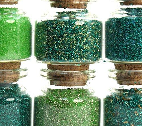 green medleys set corked jars