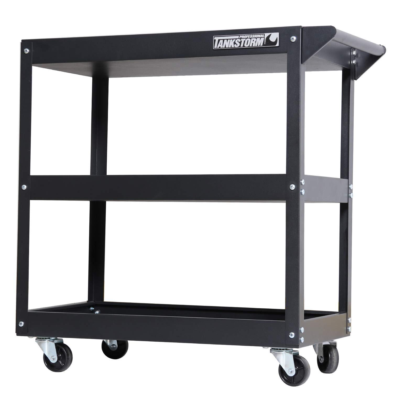 TANKSTORM Service Tool Cart 3-Tire Rolling, Industrial Commercial Service Cart-180 Lbs Capacity (TQ112)