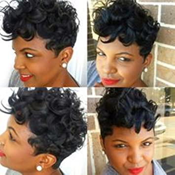 YOURWIGS Short Curly Wigs for Black Women