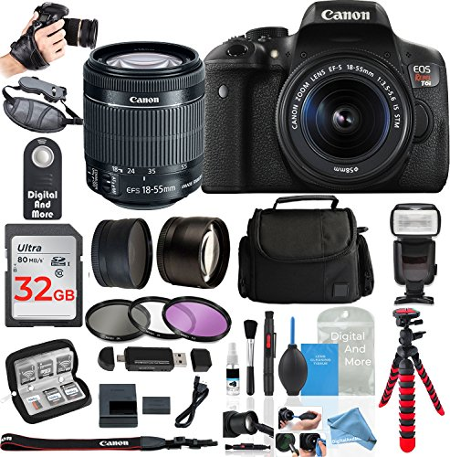 Canon Rebel T6i Digital SLR Camera Bundles (Ultimate Bestselling DigitalAndMore Bundle!)