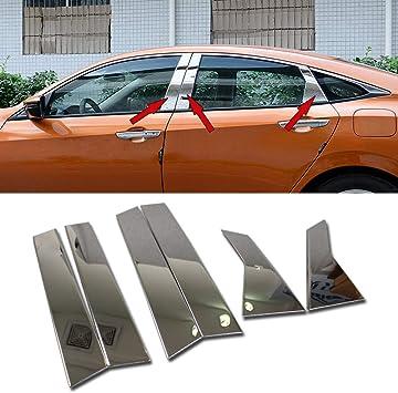 S//Steel Rear Trunk tailgate Chrome Strip molding Trim For Honda Civic 2016-2019