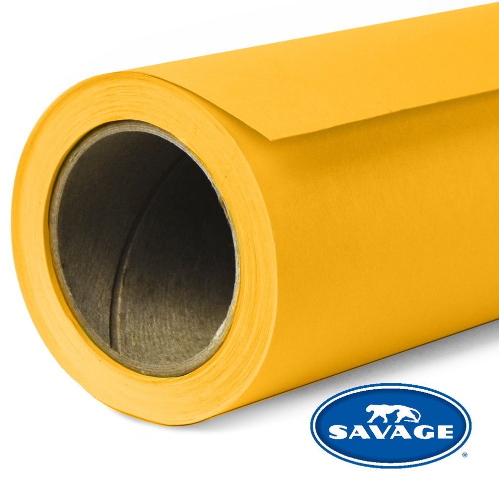 Savage Seamless Background Paper - #71 Deep Yellow (53 in x 18 ft) by Savage