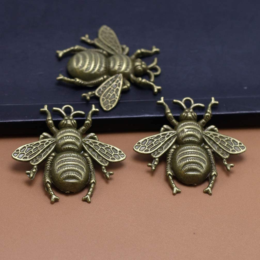 SUPVOX Jewelry Making Accessories Bee Charms Antique Pendant Charms for DIY Crafts Necklace Necklace Decoration 20 pcs Bronze