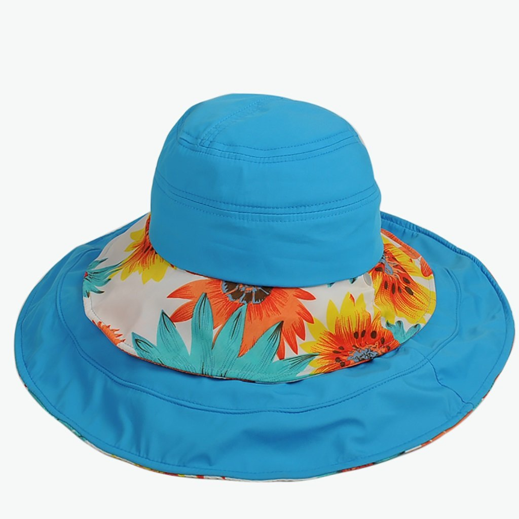 Sky bluee WENJUN Sun Hat Sunshade Collapsible Sun Hat Outdoor Outer Beach Hat Sun Hat Omnidirectional Multifunction Sun Hat (color   pink red)