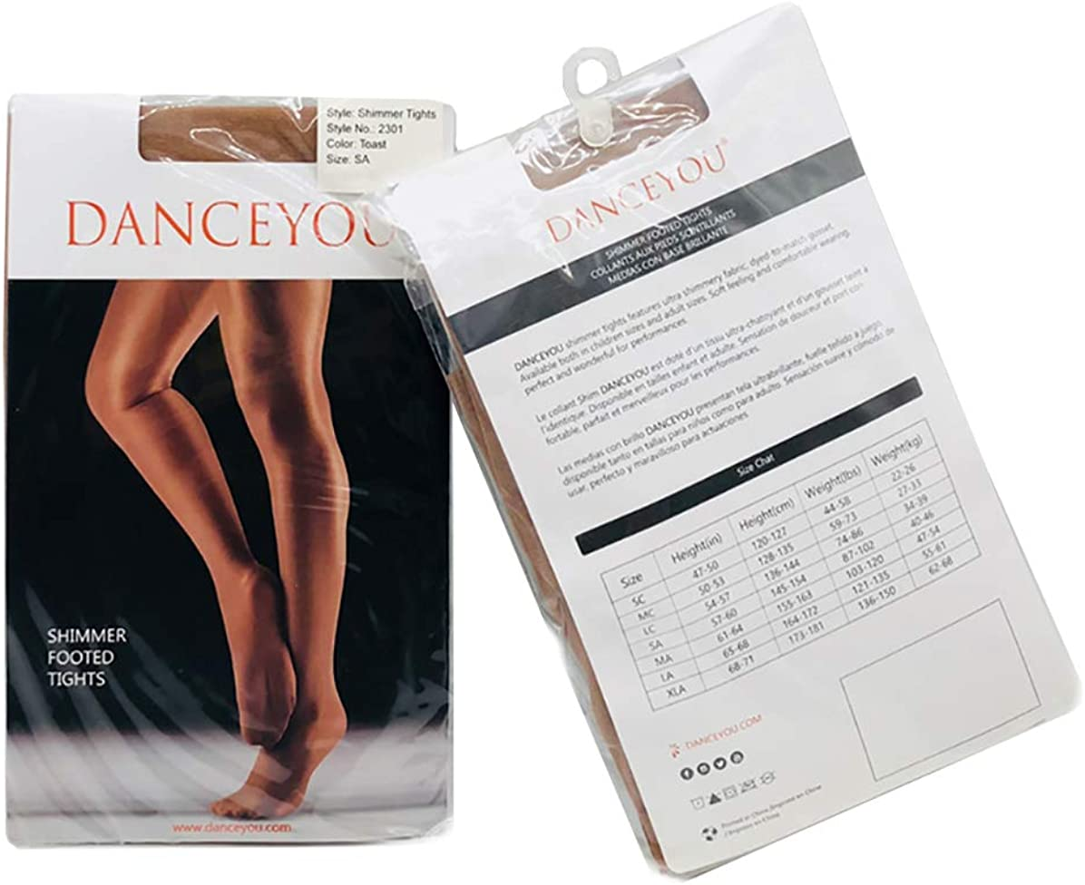 Dance Shimmer Tights Footed Silky Slight Gloss Stockings Pantyhose Tights 70D Thickness