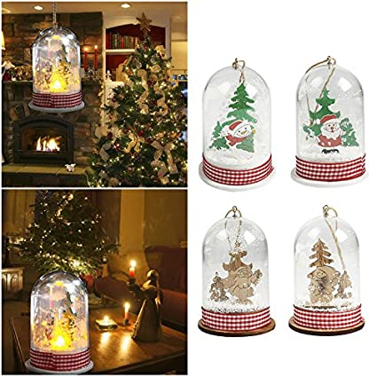 christmas tree decorations led hanging light battery operated xmas pendant merry christmas hanging ornaments table desk - Amazon Christmas Tree Decorations