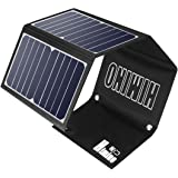 Himino Solar Panel Charge, 28W Foldable Portable Solar Panel Charger Kit, Waterproof Camping Gear Solar Charger with 2…