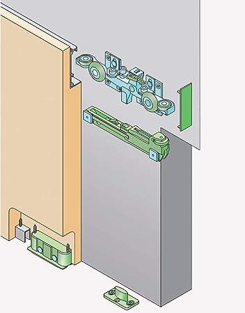 Sistema de puertas correderas invisibles - Hidden Series - 40Kg: Amazon.es: Bricolaje y herramientas