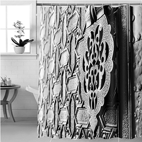 Gzhihine Shower curtain detail of an islamic door knocker and ornaments outside one of the main entrance gates to the Bathroom Accessories 72 x 88 inches by Gzhihine