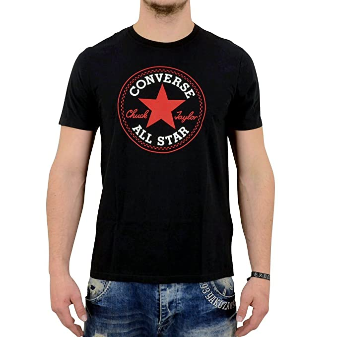 f291f18477d9 Converse Men s s T-Shirt AMT Core Cp Crew Tee Black Small