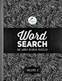 Word Search: 100 Word Search Puzzles: Volume 2: A Unique Book With 100 Stimulating Word Search Brain Teasers, Each Puzzle Accompanied By A Beautiful ... Relaxation Stress Relief & Art Color Therapy)