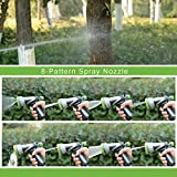 YeStar Garden Hose Metal Spray Nozzle, Classic Heavy Duty Back Trigger Water Hand Sprayer with 8-Way Adjustable High Pressure Water Patterns for Watering Plants, Car Washer and Showering Pets