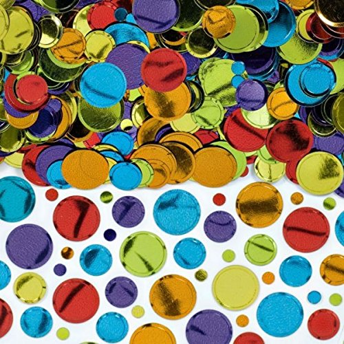 Amscan Party Pack, Multi Color Dots Confetti, Party Supplies, Multicolor, 2.5 -