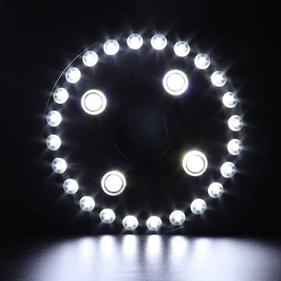 Sombrilla luz LED 3 Nivel de intensidad regulable 28 LED Camping tiendas de campa/ña Patio paraguas poste de iluminaci/ón en la pared o colgar en cualquier parte para jard/ín al aire libre
