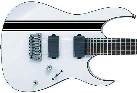 Stripes II Sticker Vinyl Body Guitar & Bass Pegatinas Vinilo Para Guitarra (negro)
