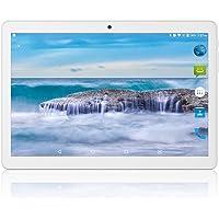 Tableta Android 8.1 de 10 Pulgadas con procesador WiFi de Ocho núcleos, navegación Bluetooth 2 GB RAM 32 GB de Memoria Dual SIM 3G, también es un teléfono móvil (Blanco)