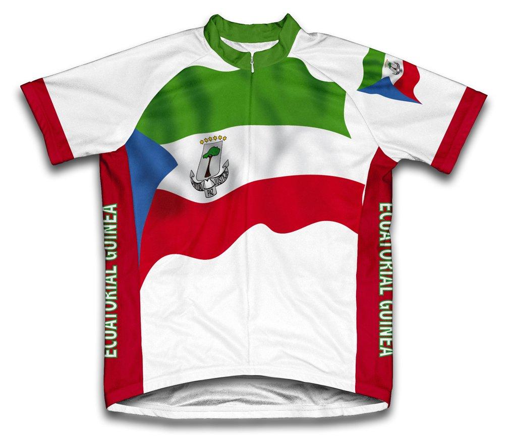 Ecuatorial Guinea Flag Radsport Trikot mit kurzer Ärmel für Frau