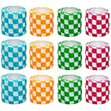 MKDcom Vet Wraps 2 inch Self- Adherent Cohesive Gauze Bandage for Animals Dogs Cats Horses, 4 Colors Plaid Pattern, 12 Rolls