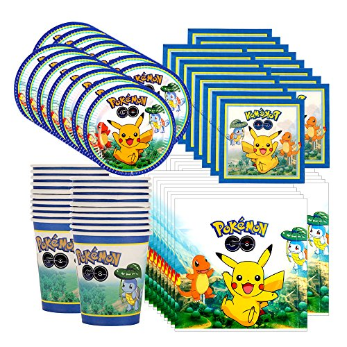 Pokemon Pikachu & Friends Birthday Party Tableware Pack for 16 Photo
