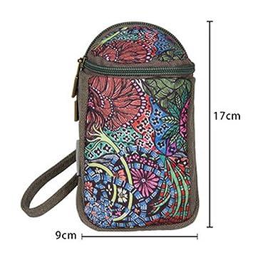 Cartera, bolso de embrague bolsa de mano Mini moneda de cosecha de flores Pequeño monedero de la cartera, regalo: Amazon.es: Oficina y papelería