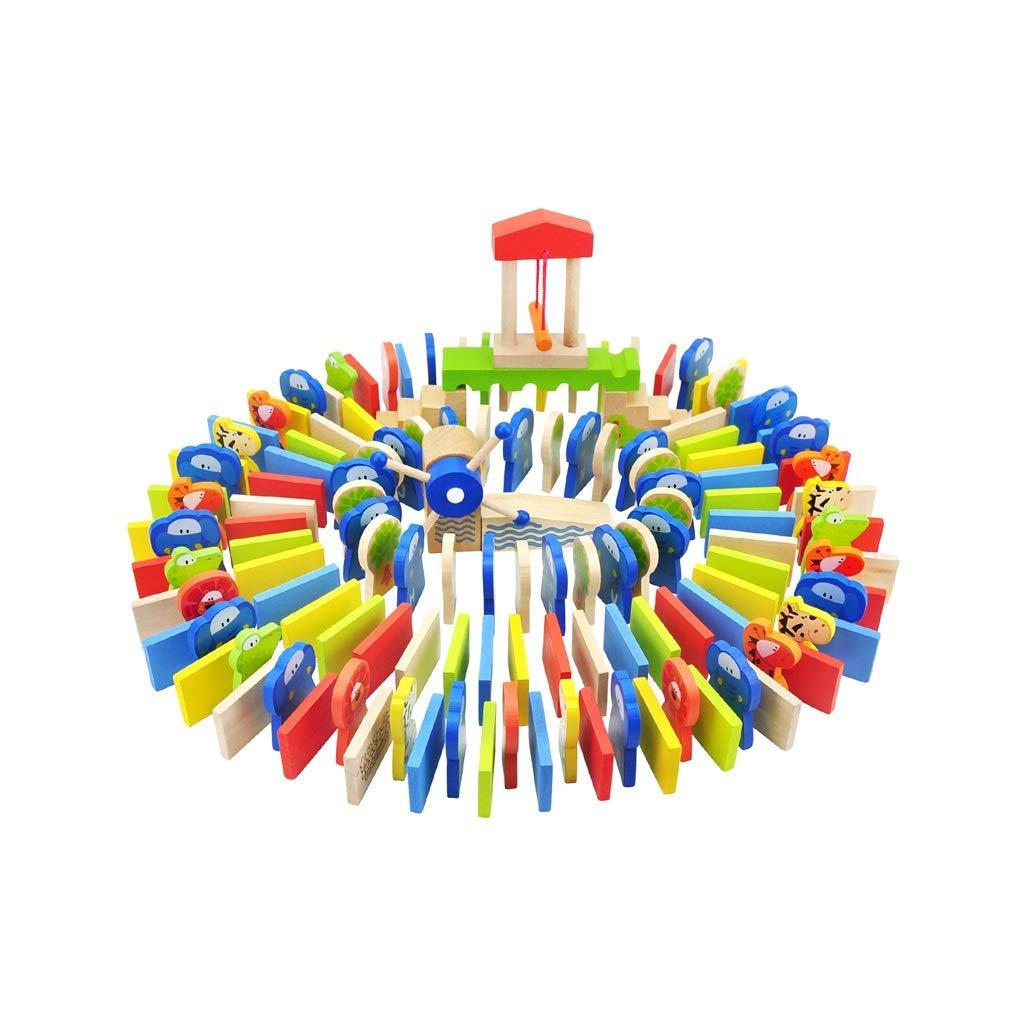 LIUFS-TOY 知育玩具 150個の動物 バレル ドミノ おもちゃ アルファベット番号 LIUFS-009  マルチカラー B07M6JDSBH