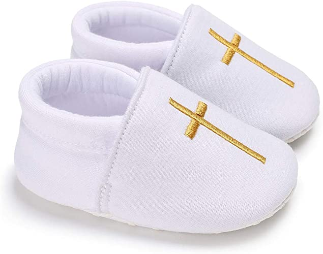 Polwer Infant Toddler Baby Soft Sole Bowknot Moccasinss Anti-Slip Crib Shoes