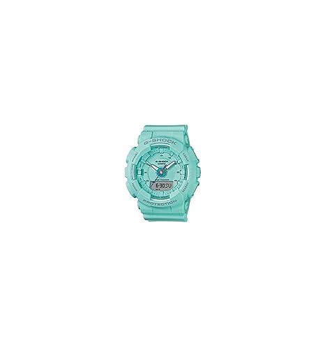 Reloj Casio G-Shock de Mujer en Resina Azul Turquesa, Ref. GMA-S130-2AER.: Amazon.es: Relojes