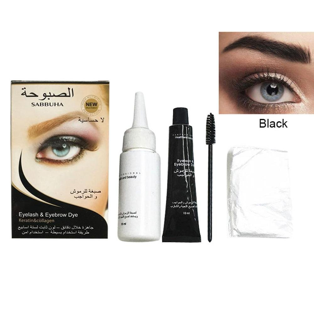 Kobwa Eyebrow Tint Kit 5 Minutes Fast Color Semi Temporary