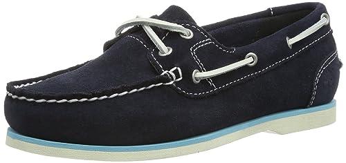 Timberland EK CLASSIC BOAT NVY BLUE - Mocasines de cuero mujer, color azul, talla 42: Amazon.es: Zapatos y complementos