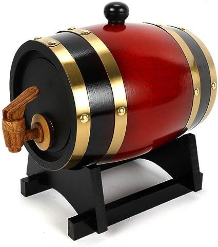 Barril de madera de roble HaroldDol 1,5 litros barril de vino ...