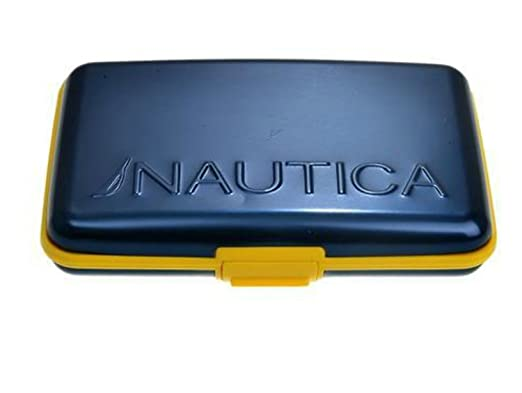 28d8afd33a43 Nautica Security Wallet Navy/yellow at Amazon Men's Clothing store