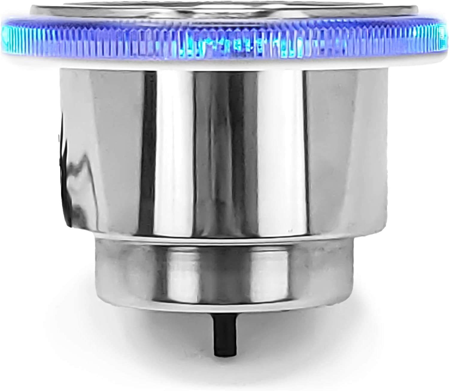 Five Oceans Stainless Steel Cup Drink Holder w/ 12V Blue LED Ring Light FO-4434