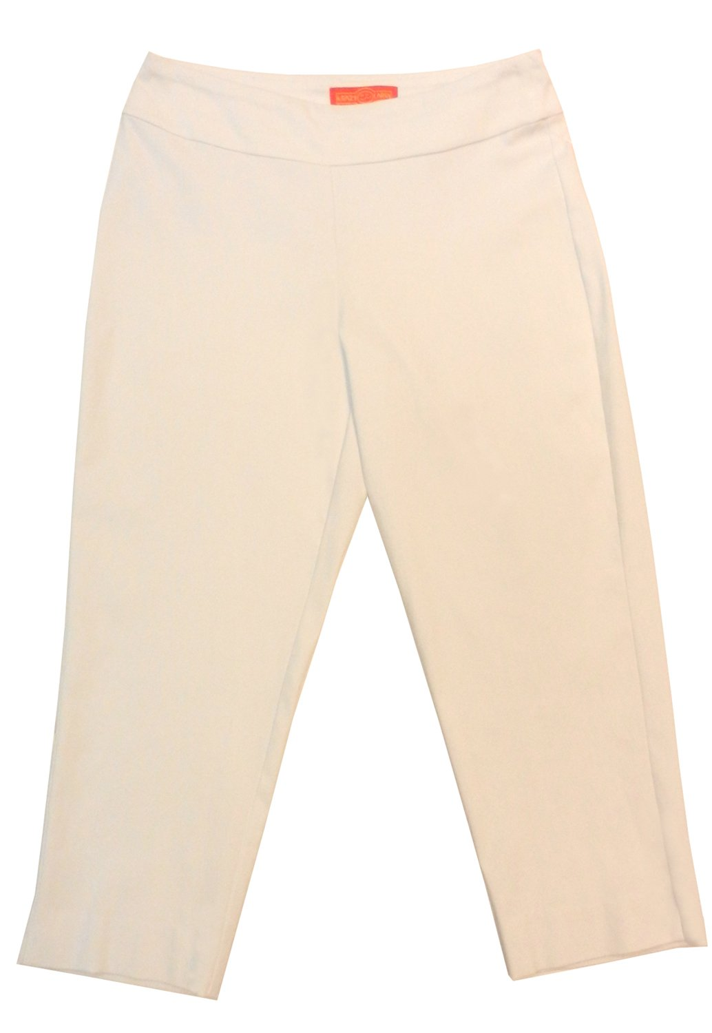 Krazy Larry Pull-on Cropped Pants (12, White)