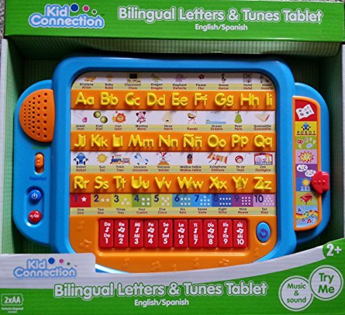 Bilingual Letters & Tunes Learning Tablet - Blue (Tablet Kids Spanish compare prices)