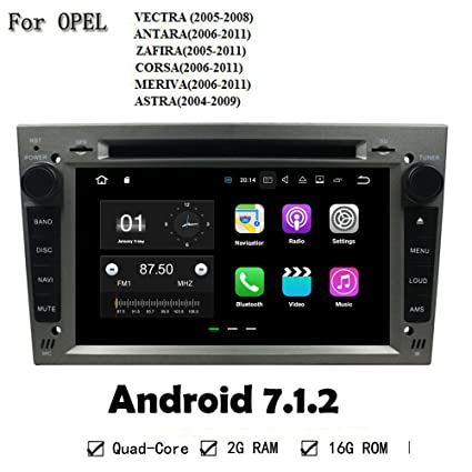 Gris Color Android 6.0 2 G ocho Core GPS coche reproductor de DVD Multimedia para Opel