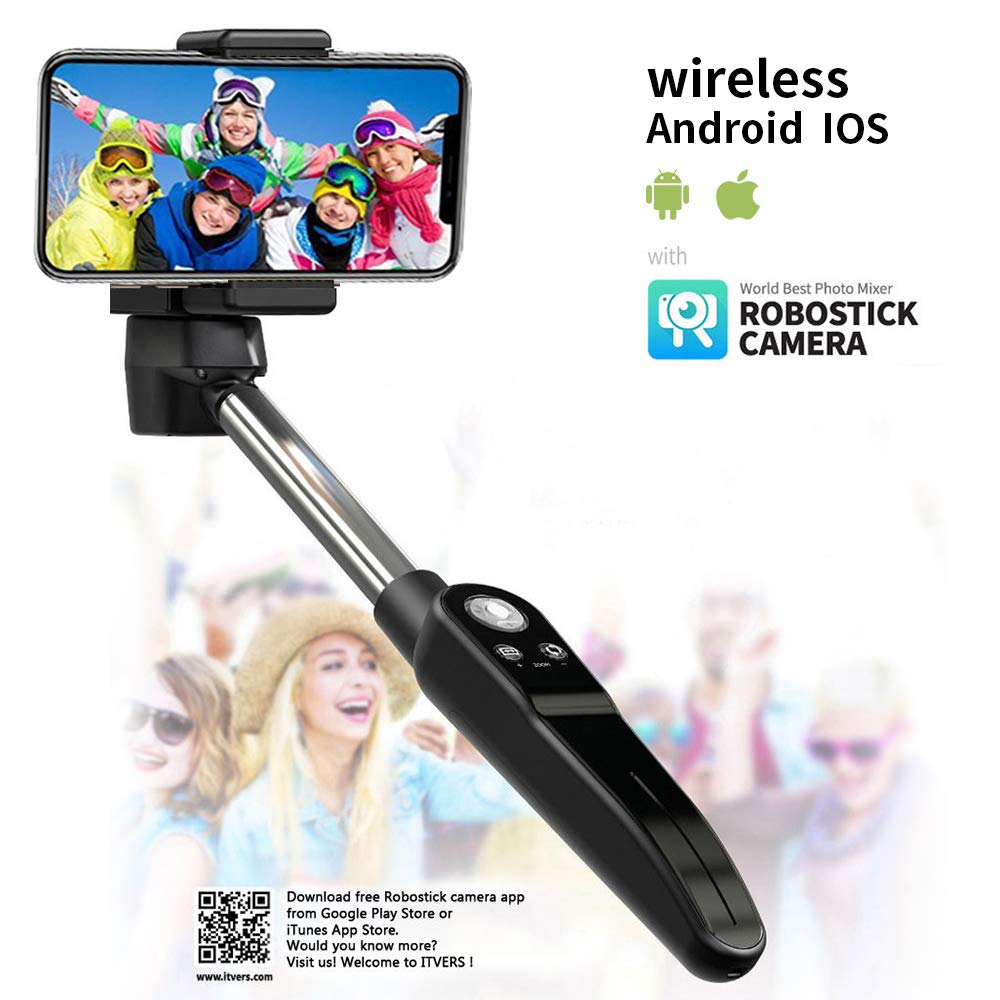 Fouu Wefie Robostick Automatic Panorama Wide Shot Selfie Stick Zoom-in&Out Auto-Recording Panorama Video Compatible Samsung Galaxy S9/S8/S7S7 Edge/S6/S6 Edge/S6 Edge+/S4/Note 4~8 by Foluu