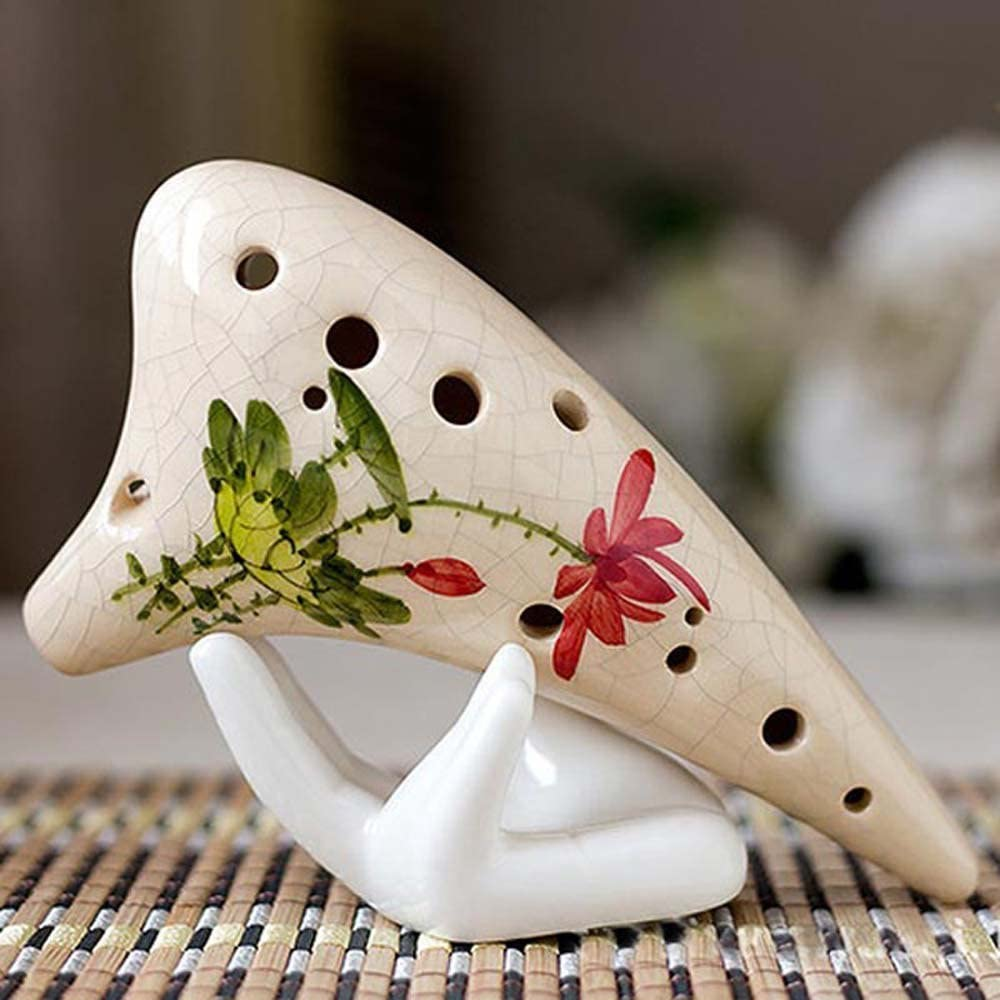 1PC White Ceramic Hand Holder Support Stand For 6 Holes 12 Holes Ocarina P WBVO