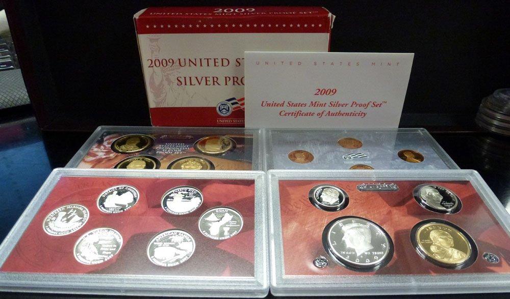 2009 United States Mint Silver Proof Set w//Box /& COA