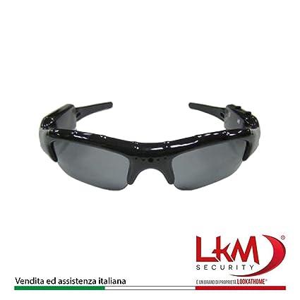 LKM Security ac-v23 Gafas espía con cámara Oculta (HD, Negro, Moderno