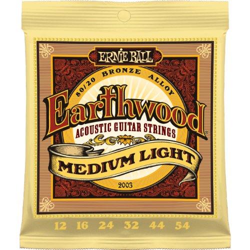 Ernie Ball 2003 Earthwood Medium Light 80/20 Bronze Acoustic String Set (12 – 54), Outdoor Stuffs