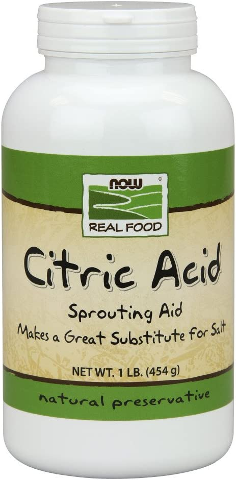 NOW Foods, Citric Acid, Sprouting Aid, Great Substitute for Salt, Preservative Found in Citrus Fruits, 1-Pound: Health & Personal Care