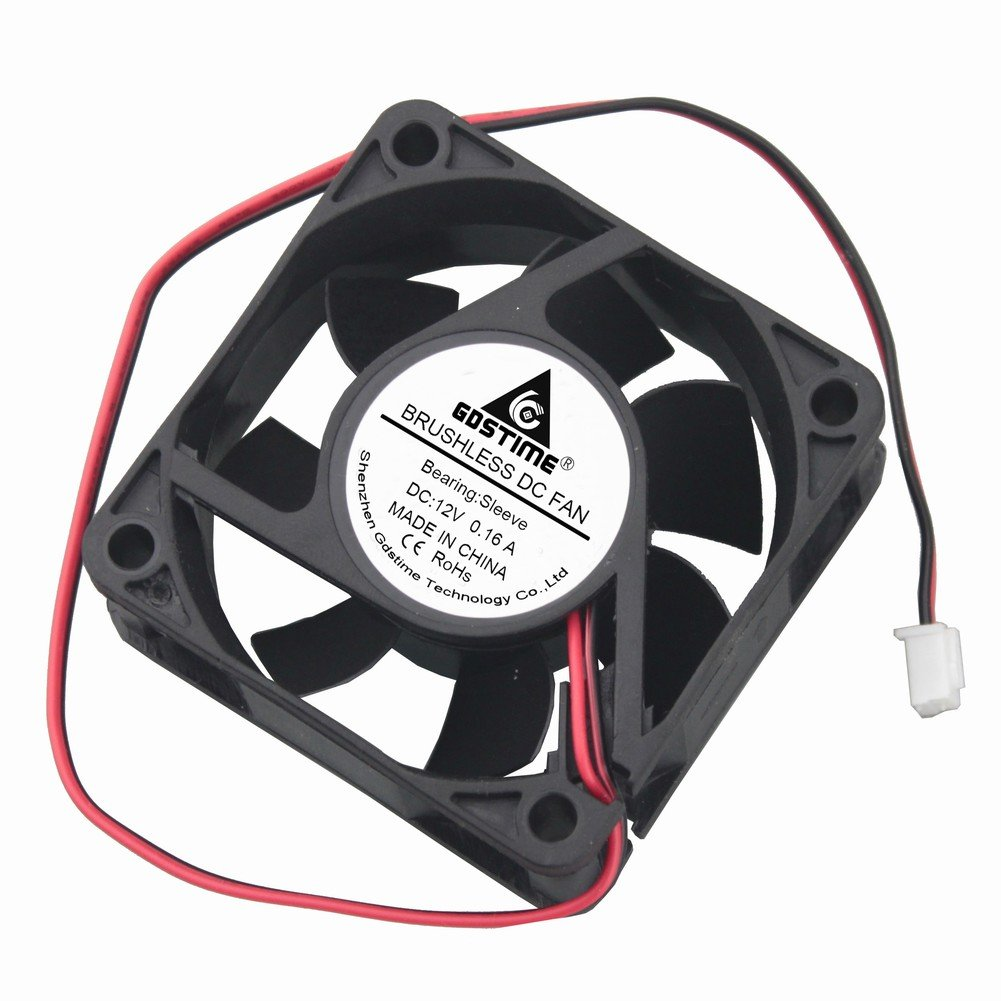 Gdstime Dc 12v Brushless Cooling Fan 60mm 6cm 60x60x25mm Computer Wire Diagram 2 Computers Accessories