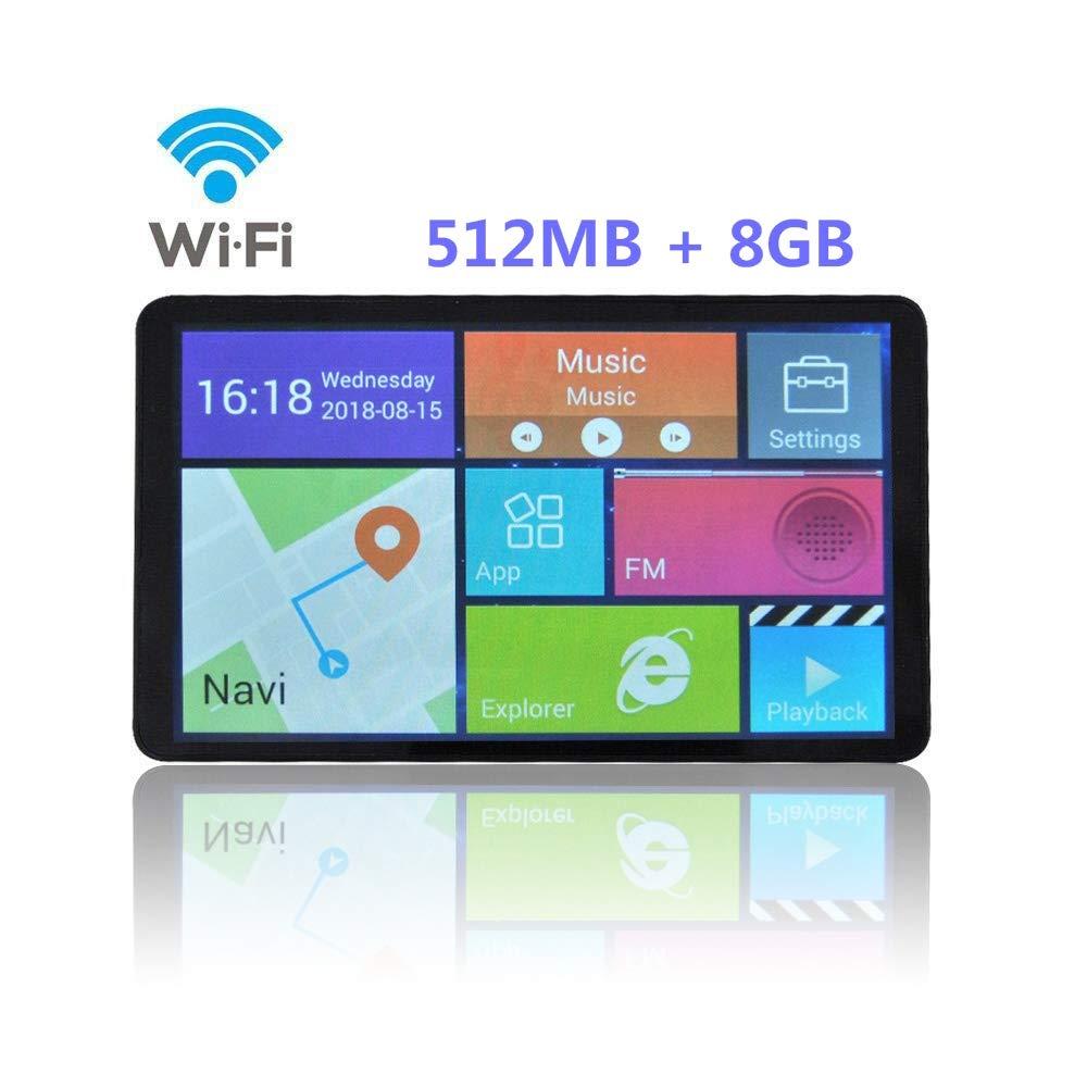 GPS Navigatore 7 Pollici Touchscreen Capacitivo per Auto, Aggiornamento A Vita E Servizi Live Via Bluetooth G-TEXNIK WR1