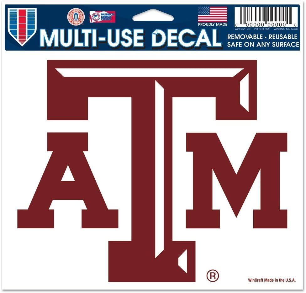 5 x 6 WinCraft NCAA Texas A/&M University 21792091 Multi-Use Colored Decal